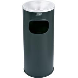 Borne cendrier ronde acier noir 30 L Probbax
