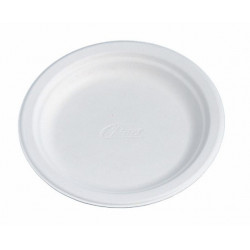 Assiette en carton biodégradable 17 cm blanche - lot de 175