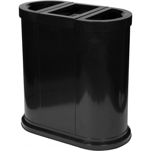 Station de tri sélectif 150 L 3 compartiments Probbax Noir