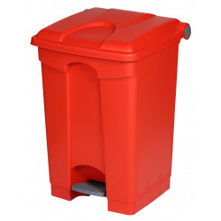 Collecteur de tri sélectif 45L HACCP PROBBAX Rouge