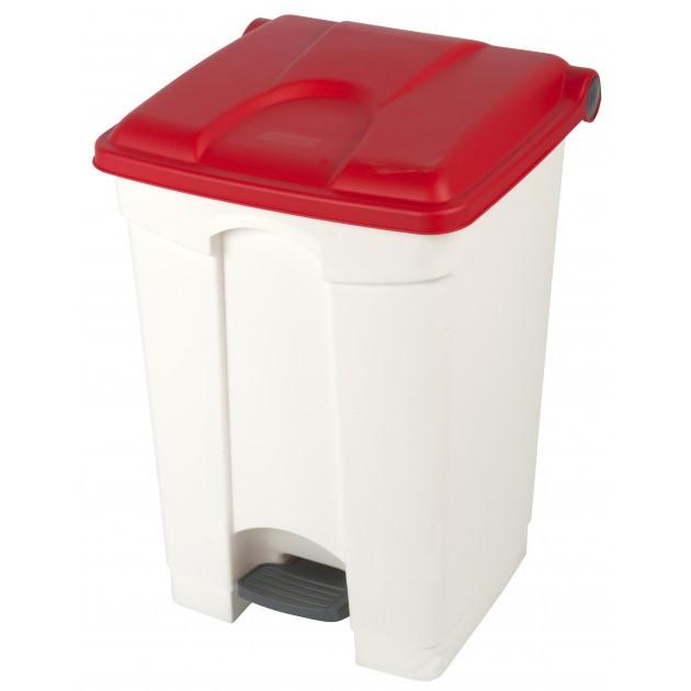 Collecteur de tri sélectif 45L HACCP PROBBAX Blanc/Rouge