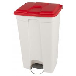 Collecteur de tri sélectif 90L HACCP PROBBAX Blanc/Rouge