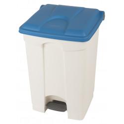 Collecteur de tri sélectif 45L HACCP PROBBAX Blanc/Bleu