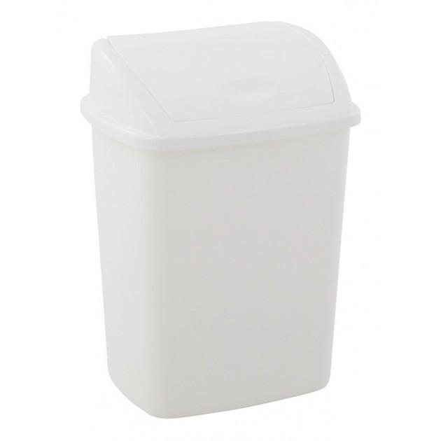 Poubelle en plastique avec couvercle à bascule 15L