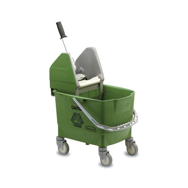 Chariot de lavage Combo Bravo Rubbermaid Vert