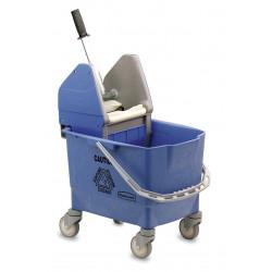 Chariot de lavage Combo Bravo Rubbermaid Bleu