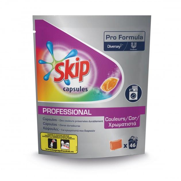 Lessive capsule liquide Pods Skip - pack de 46 capsules couleur