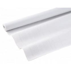 Nappes papier damassées blanches 50m