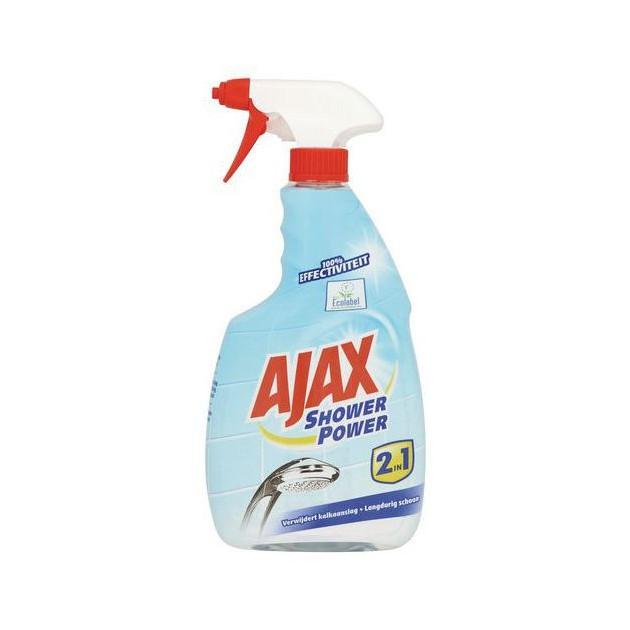 Spray anti-calcaire Ajax Shower Power 750 ml - lot de 3