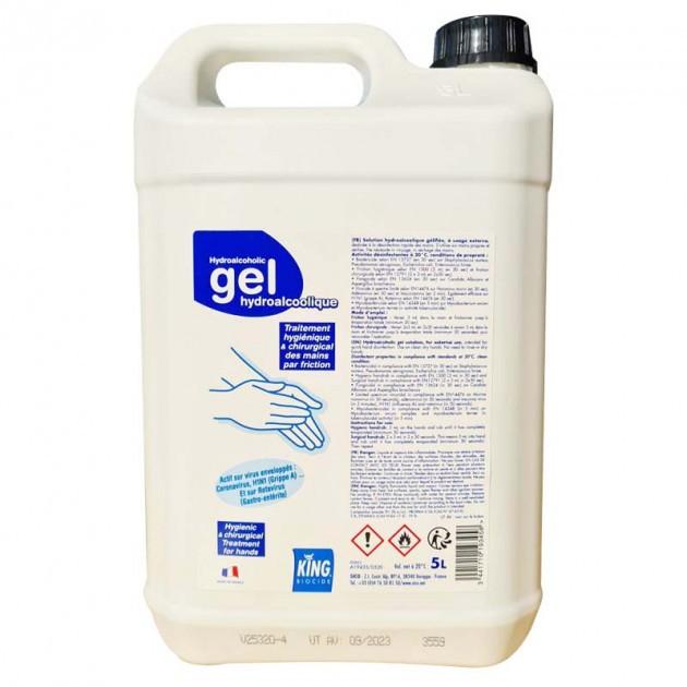 Gel hydroalcoolique norme EN14476 - bidon de 5 litres