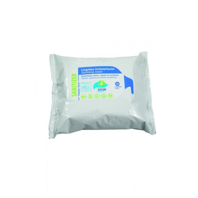 Lingette hydroalcoolique mains et surfaces EN14476 Sanitizer