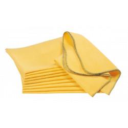 Chiffon chamoisine coton 40 x 50 cm - lot de 10