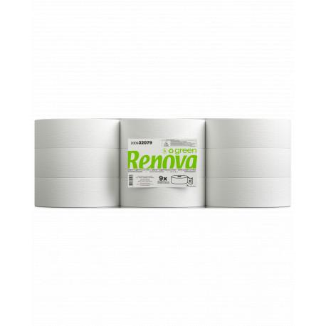 Papier toilette maxi jumbo Ecolabel 2 plis 350 m Renovagreen Renova - colis de 9 bobines