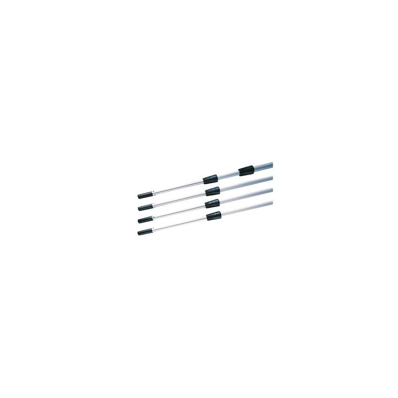 Perche téléscopique PULEX en aluminium avec embout conique