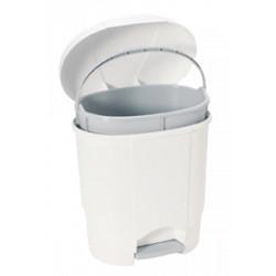 Poubelle design ovale blanche 6L