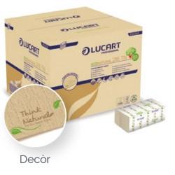Serviette à usage unique 2 plis Ecolabel havane - colis de 6 000