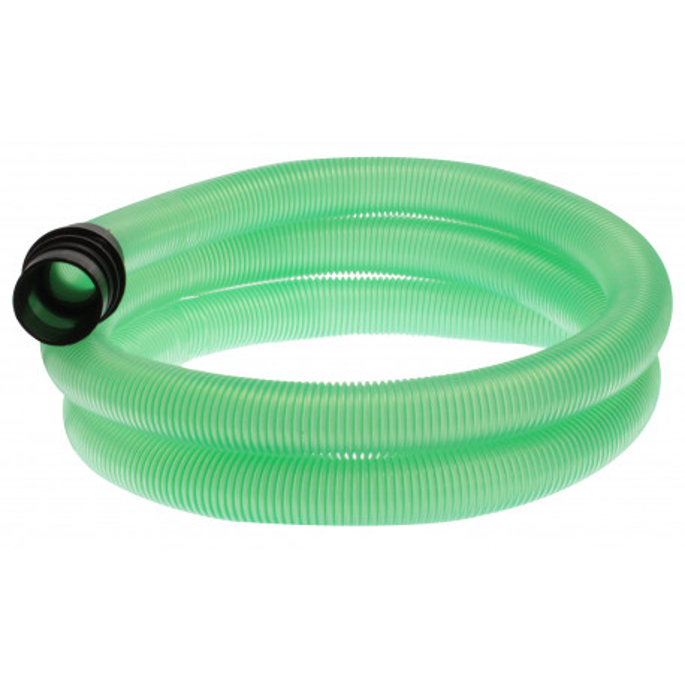 1685TRA/VE - Flexible complet 2 m transparent vert