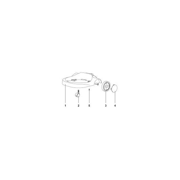 Cache Roue Noire pour aspirateur GP 1/16 MPVR40523
