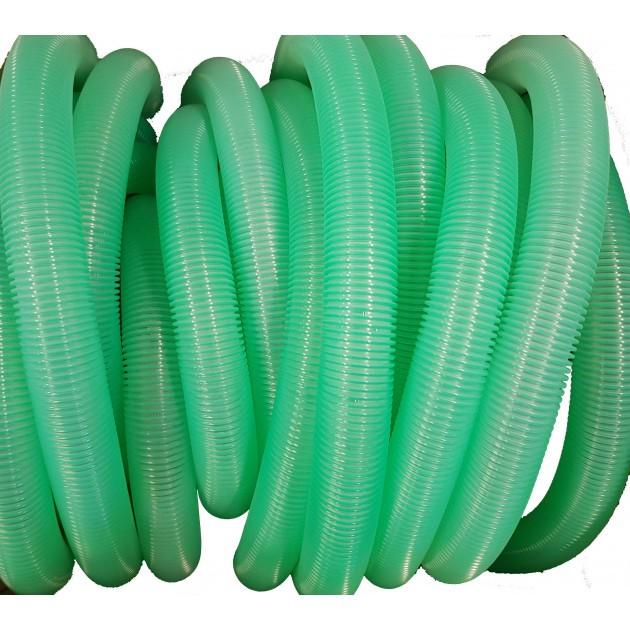 Flexible 20m vert transparent pour aspirateur Ø38mm TBFX01177
