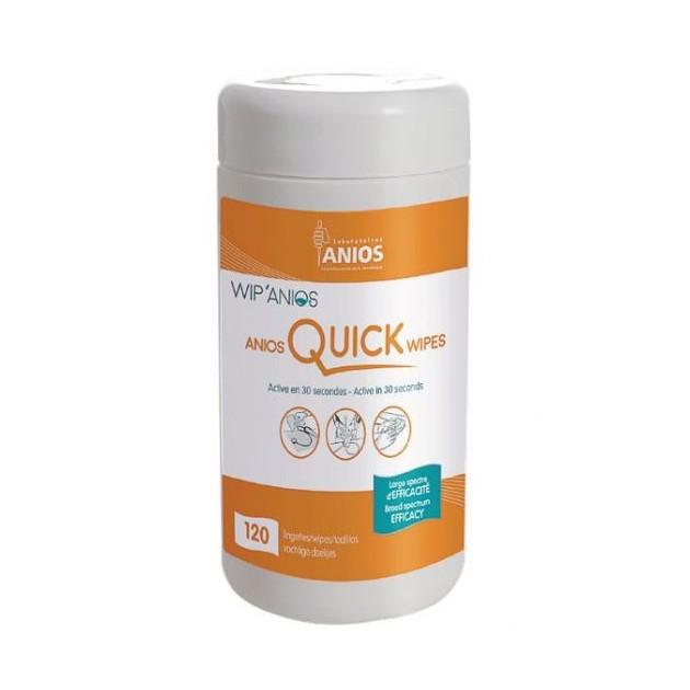 Lingette désinfectante pour dispositifs médicaux Qucik Wipes Anios - boîte de 120