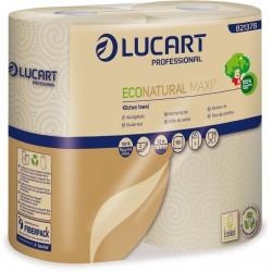 Essuie-tout Ecolabel 2 plis havane EcoNatural Maxi 3 Lucart - colis de 12 rouleaux de 150 feuilles