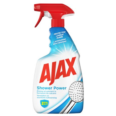 Spray anti-calcaire Ajax Shower Power 750 ml - lot de 3