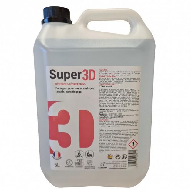 2+1 GRATUIT Détergent désinfectant bactéricide, virucide 3D 5L