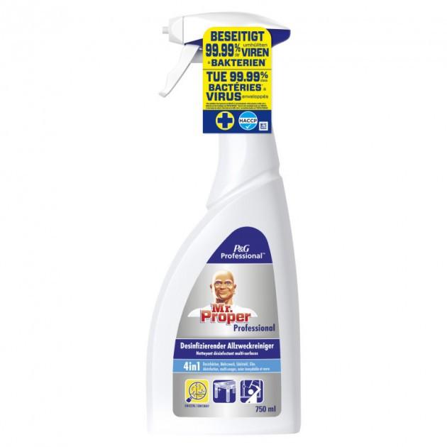 2+1 GRATUIT Spray désinfectant 4 en 1 multi-surfaces Mr Propre Professionnel
