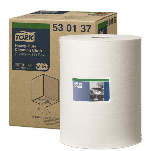 Chiffon non-tissé blanc 1 pli pour système W1, W2, W3 Tork – bobine de 280 feuilles