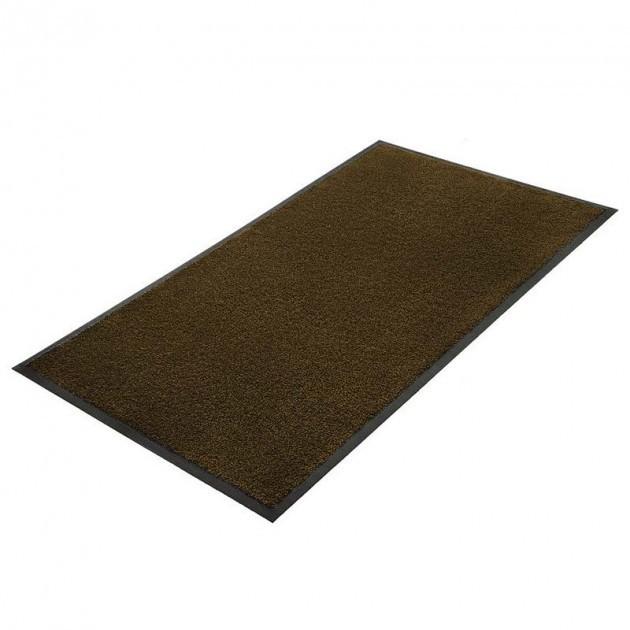 Tapis d'accueil intérieur microfibre super absorbant Microstar 90 x 150 cm marron