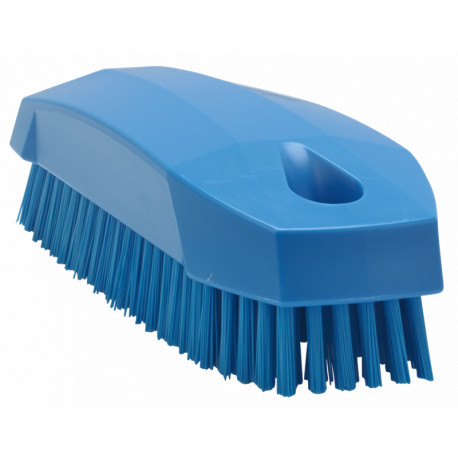 Brosse alimentaire à ongles dure 130 mm bleu