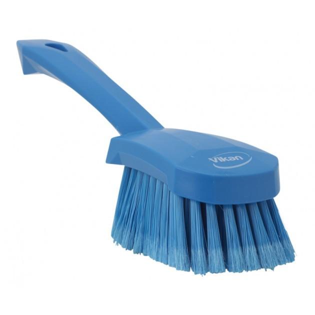 Brosse alimentaire souple fleurée manche court 270 mm bleu