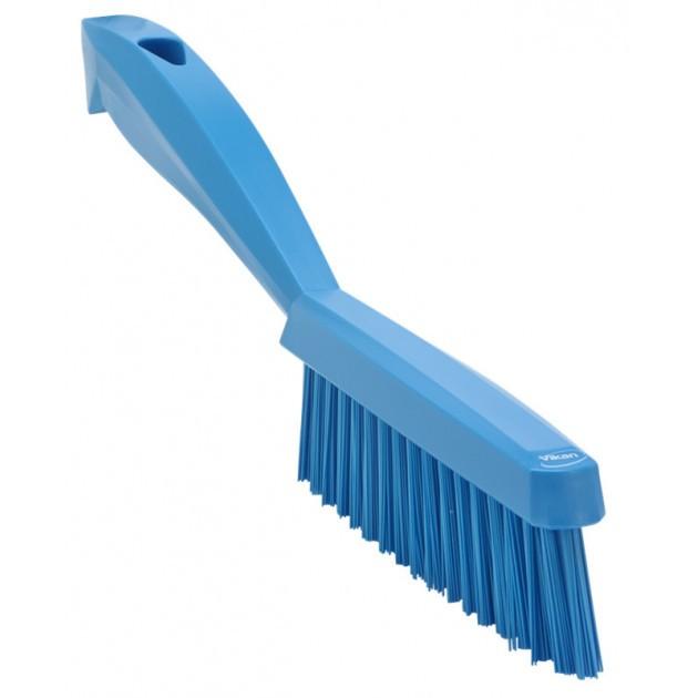 Brosse fine extra dure HACCP 300 mmm bleu