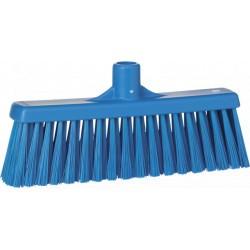 Balai brosse droit medium HACCP 300 mm bleu
