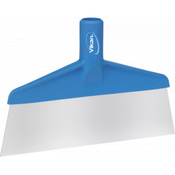 Spatule alimentaire lame inox 260 mm bleu