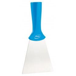 4011 - Spatule alimentaire lame inox à pas de vis 100 mm bleu