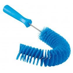 5372 - Brosse à main bleue flexible avec pas de vis, Ø55 mm, 360 mm, Medium