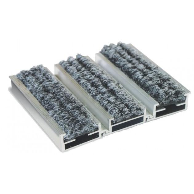 Tapis insert textiles avec structure en aluminium à la découpe sur mesure