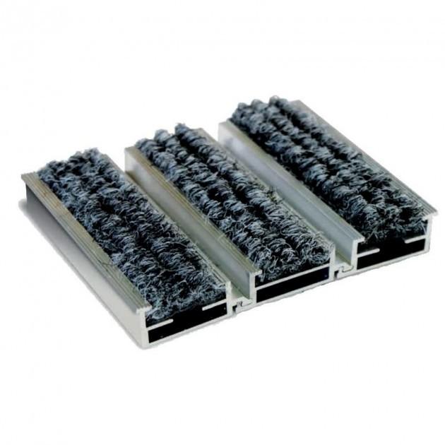 Tapis d'entrée structure aluminium sur mesure gris anthracite