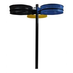 Support sac 3 flux sur tube 80L - 110L