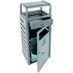 Poubelle cendrier en métal 20L/2,3L