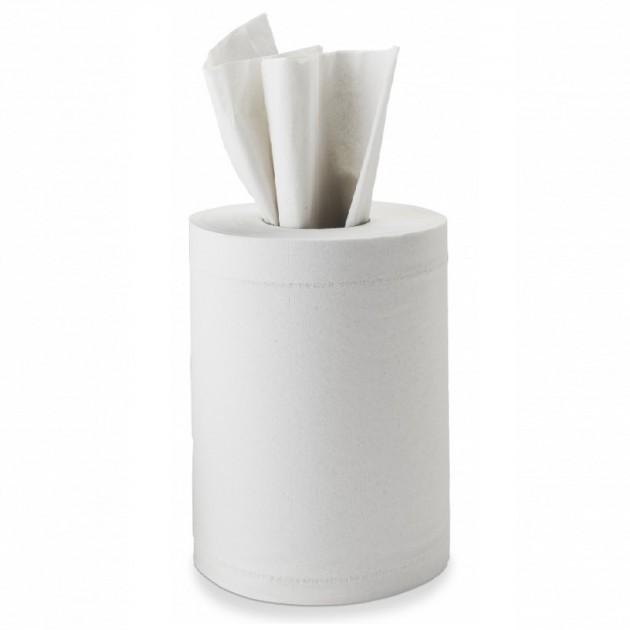 Essuie-mains à dévidage central Delcourt - colis de 12 bobines de 150 feuilles