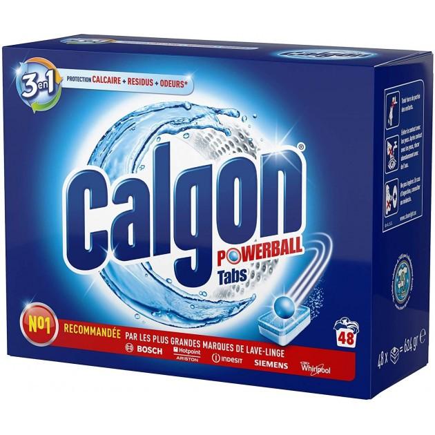 Anticalcaire lave-linge Calgon tabs 2 en 1 - 48 tablettes