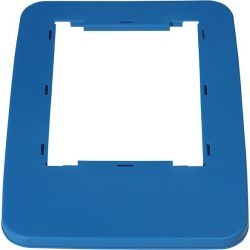 Cadre de couvercle pour poubelle de tri sélectif bleu