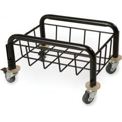 Chariot métal pour poubelle de tri sélectif 60L et 80L