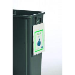 Panneau d'affichage à suspendre pour poubelle de tri sélectif 60L et 80L
