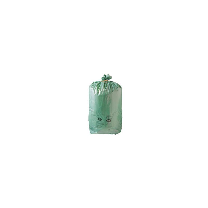 Lot de 500 sacs poubelle Vert écologique de 30L