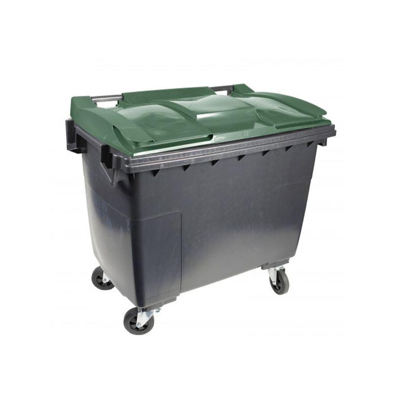 Conteneur poubelle 4 roues sans prise ventrale - 1000 L