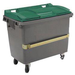 Conteneur poubelle 4 roues avec prise ventrale - Plastic Omnium 770L