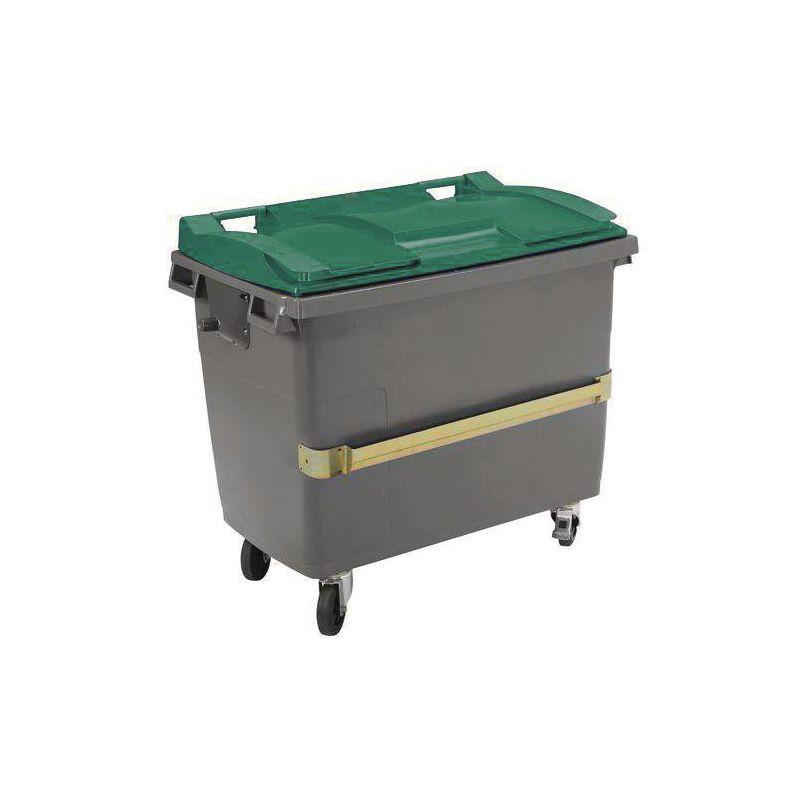 Conteneur poubelle 4 roues avec prise ventrale - Plastic Omnium